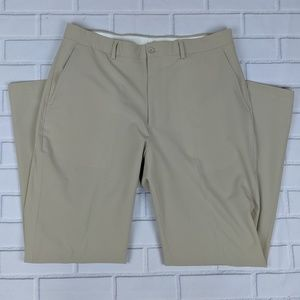Slazenger Men's Pants Size 36 X 32 Flat Front Tan